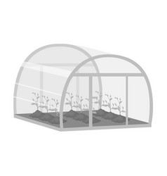 Greenhouse single icon in monochrome style vector