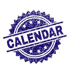 grunge textured calendar stamp seal vector image