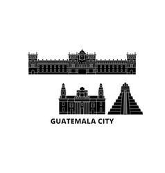 Guatemala guatemala city flat travel skyline set vector