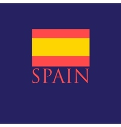 icon with the Spanish flag vector image