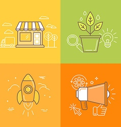 in trendy linear style vector image