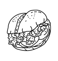 italian sloppy joes icon doodle hand drawn or vector image