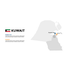 kuwait map infographic template slide vector image