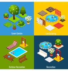 Landscape Isometric Design vector image