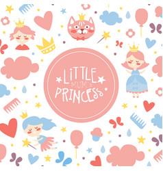 little mums princess banner template bagirl vector image