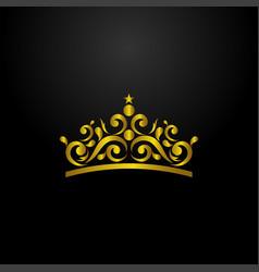 luxury crown logo vector image