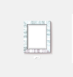marble frame on the wall vector image