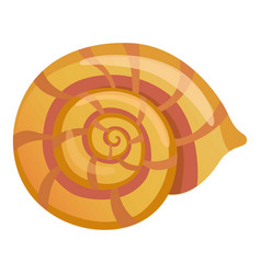 Mollusk shell icon cartoon style vector