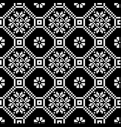 Monochromatic ethnic seamless background seamless vector