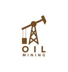 oil mining logo icon element design template vector image