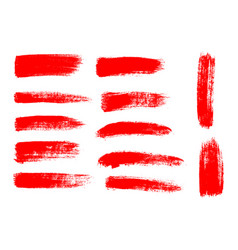 Painted grunge stripes set red labels background vector