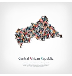 People map country African Republic vector