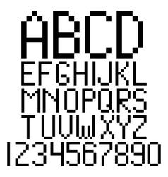 Pixel alphabet vector