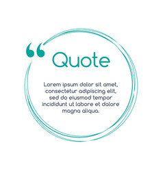 Quote text bubble on white background empty vector