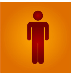red man vector image