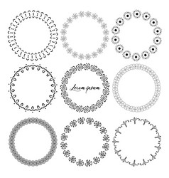 Round frames for decoration vector