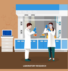 scientists people multicolored composition vector image