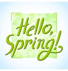 Spring hello vector