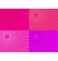 The pink rays of the sun Eps 10 vector