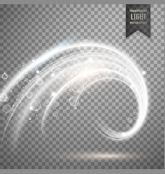 transparent white light effect vector image