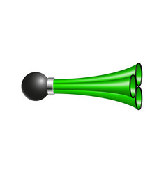 triple air horn in green design vector image