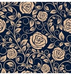 Vintage roses flowers seamless pattern vector