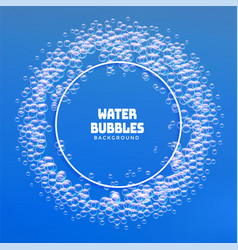 water bubbles or soap foam frame background vector image