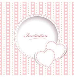 Wedding greetings or invitation card vector image