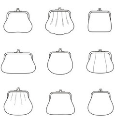 Womens purse vector