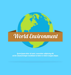 Word environment day background earth vector