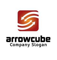 Arrow Cube Logo vector image vector image