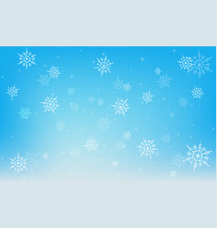 christmas winter snowflake on blue background vector image vector image