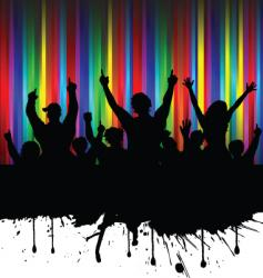 grunge audience vector image