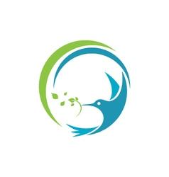 Hummingbird Logo Template icon vector image