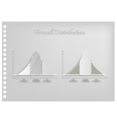 paper art of standard deviation diagram graphs vector image vector image