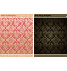 seamless decor vintage wallpaper background vector image vector image