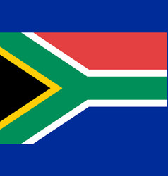 south africa national flag vector image