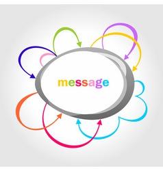 vector colour arrows speech bubbles vector image