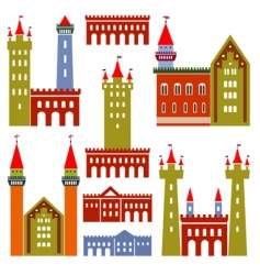 architecture of castles vector image vector image