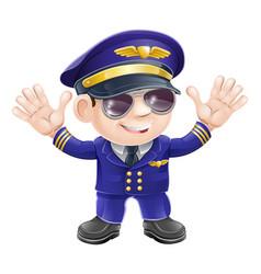 Cartoon airplane pilot vector
