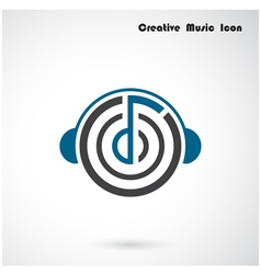 Creative abstract musical design logo desig vector image