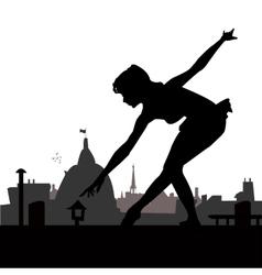 Little ballerina silhouette vector image