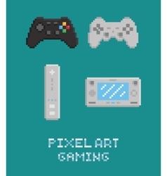 pixel art - modern gamepads vector image vector image