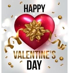 Valentines greeting card design eps 10 vector image