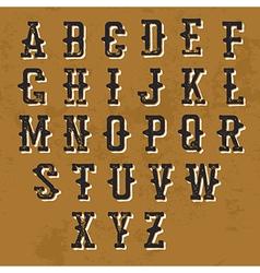 Vintage Grunge alphabet Decorative display font vector image vector image
