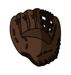 baseball leather glove vector image