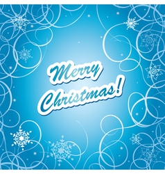 blue christmas frame - eps10 vector image