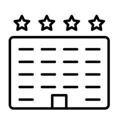 hotel line icon simple minimal 96x96 pictogram vector image vector image