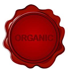 ORGANIC wax seal vector image