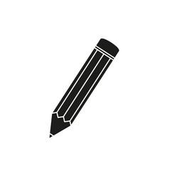 pencil black school icon vector image